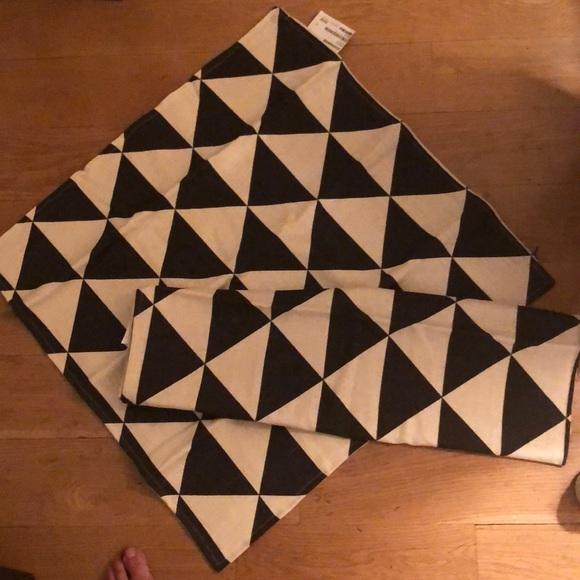These ikea geometric pillow covers measure 26x26.